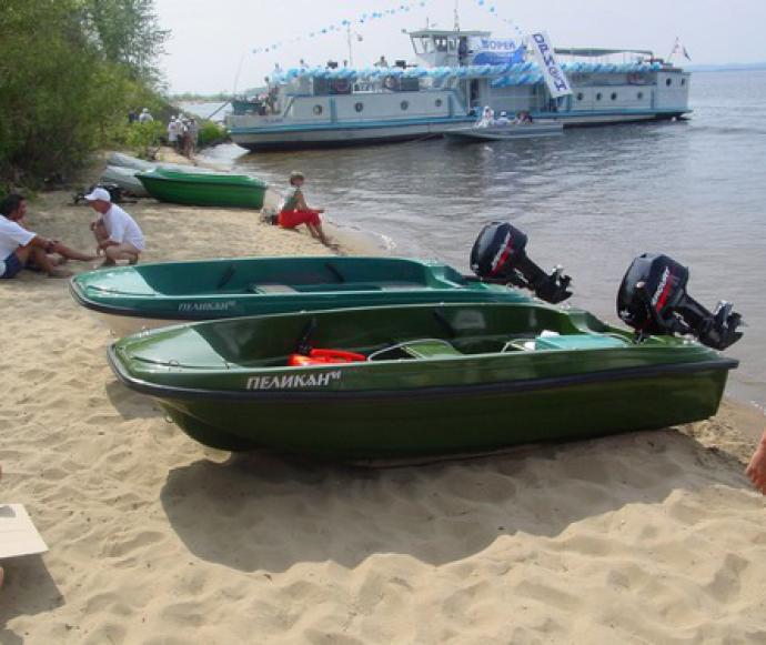 лодка моторная пластиковая пеликан